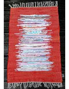 alfombra reversible naranja