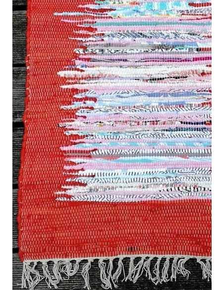 detalle alfombra reversible naranja