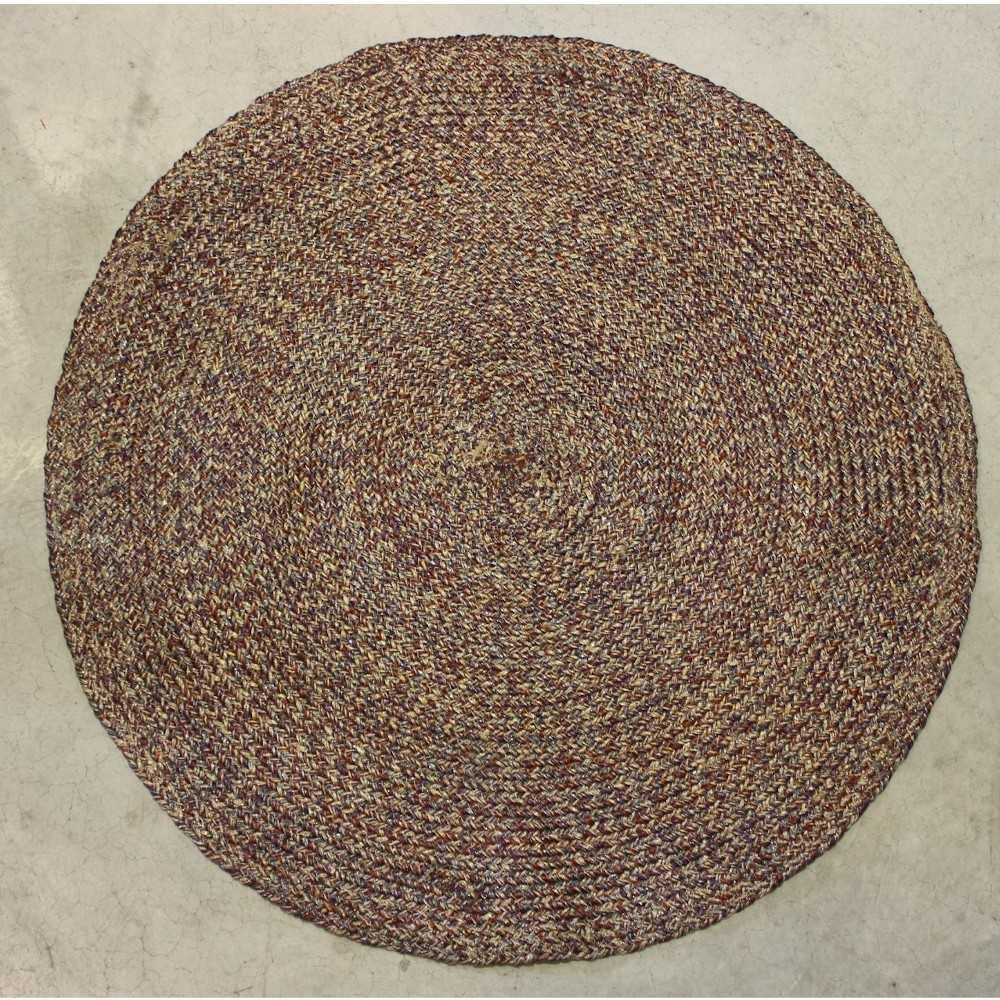 alfombra redodna poliester color beige