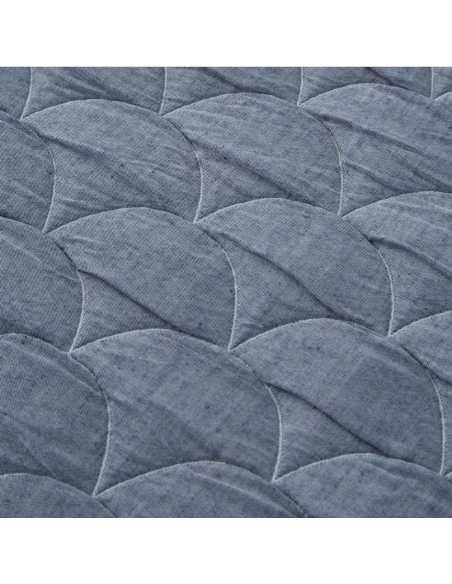 detalle colcha laredo gris