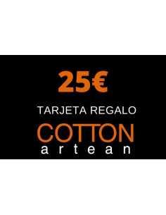 tarjeta regalo 25 € cotton artean