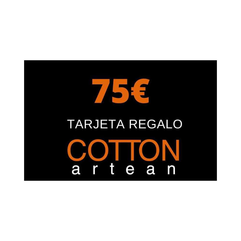 tarjeta regalo 75 € cotton artean