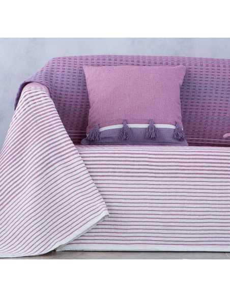foulard para sofa morado