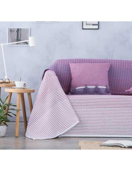 cubierta para sofa multiusos morado
