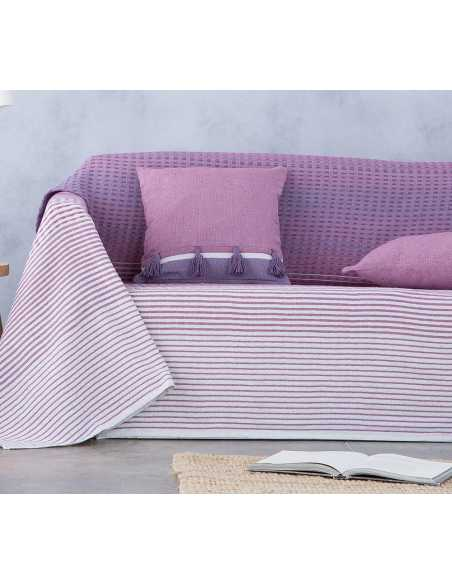 cubre sofá multiusos morado