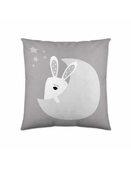 funda de cojin gris infantil bunny