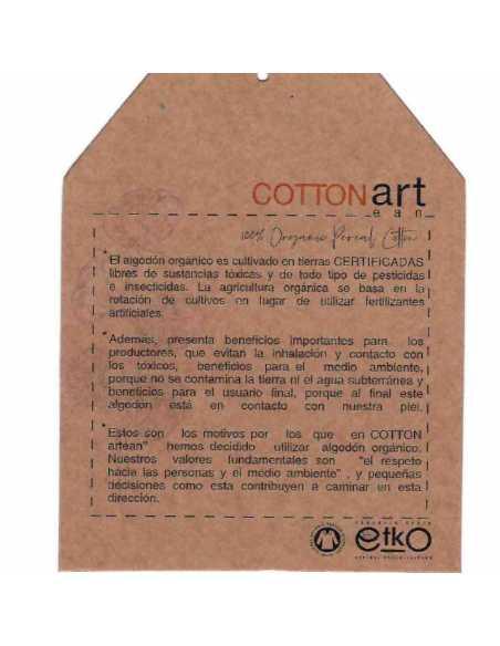 etiqueta algodon organico