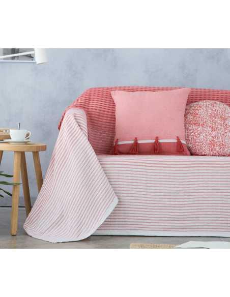 cubre sofa naranja