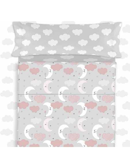 saco nordico con relleno lunitas gris y rosa