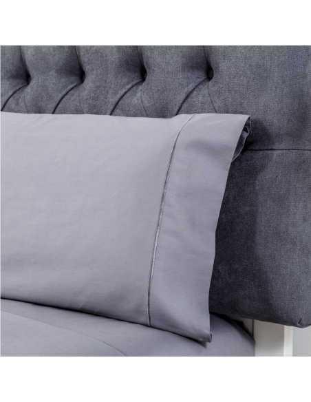 almohada sabana saten gris