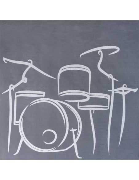 detalle juego de sabanas drum gris