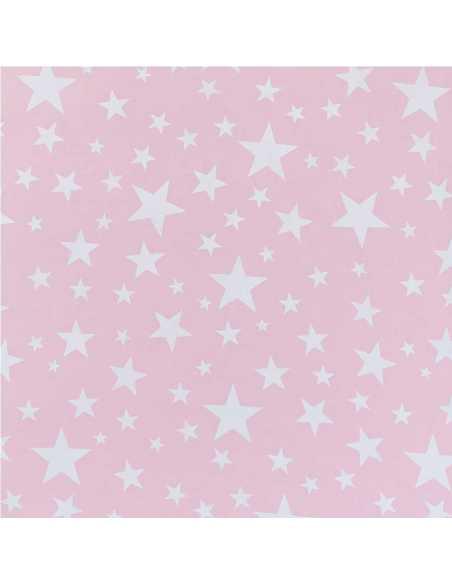 detalle juego de sabanas con estrellas rosa