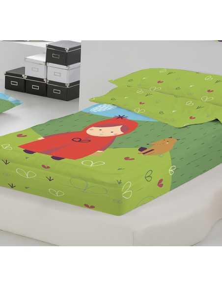 saco infantil cama de 90 verde