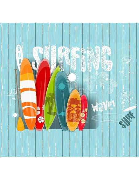 detalle sabana infantil juvenil surf