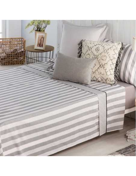 sabana lines algodon gris