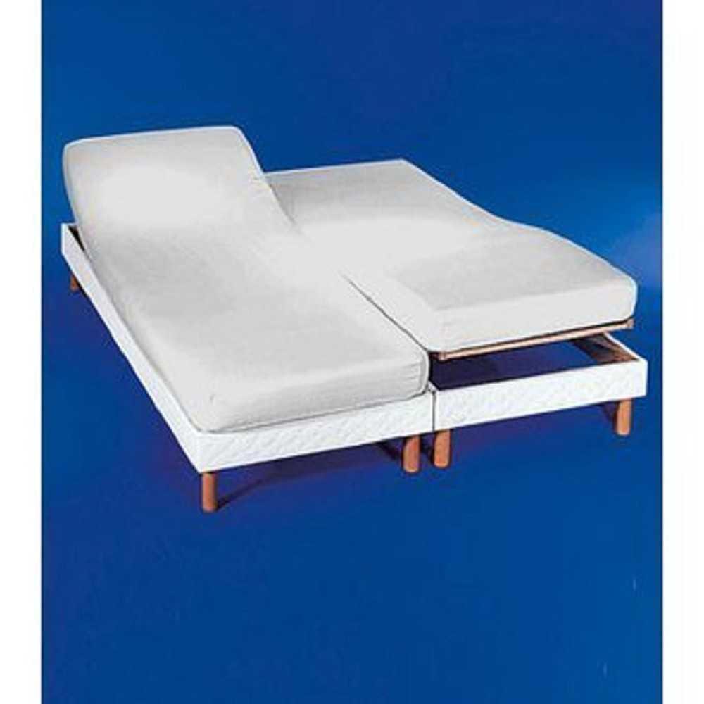 sabana bajera camas dobles articuladas blanca