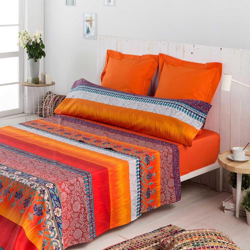 juego de sabanas multicolor indi algodon