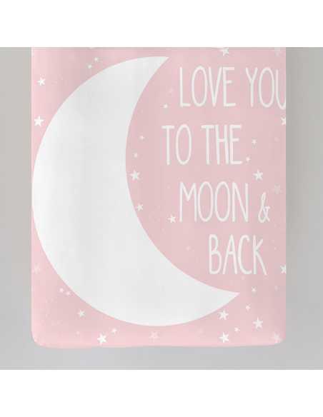 detalle funda nordica rosa moon pink