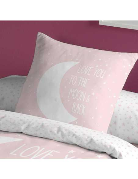 funda de cojin infantil juvenil rosa