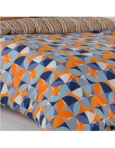 funda de edredon naranja y azul