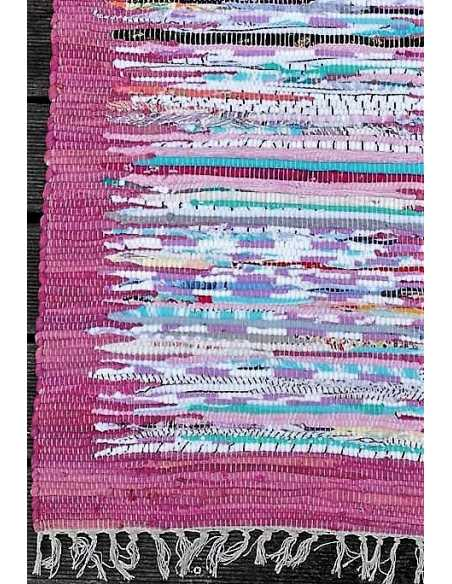 detalle alfombra rectangular morado