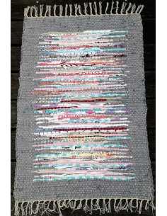 alfombra rectangular tonos grises